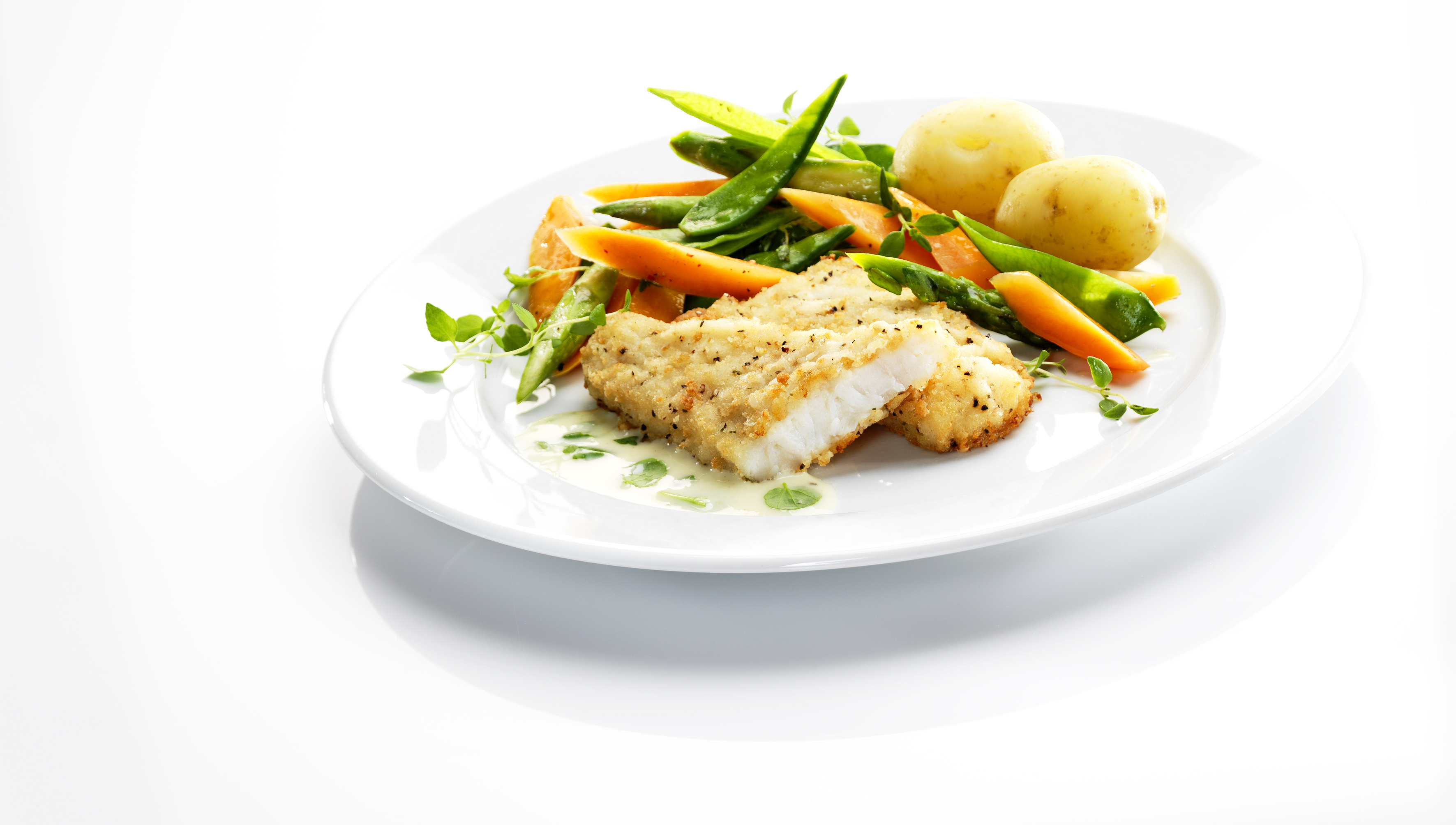Cod fillet with salt and pepper